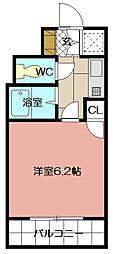 ライオンズマンション三萩野駅前 610号[610号室]の間取り