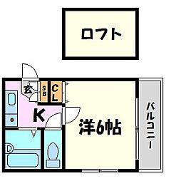 兵庫県西宮市宮前町の賃貸マンションの間取り