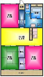 レイクサイドキミガサワ[1階]の間取り