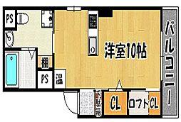 兵庫県明石市本町2丁目の賃貸マンションの間取り