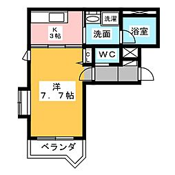 コヌンカーネ 駒形[2階]の間取り