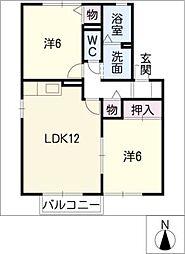 セジュール円城寺B[2階]の間取り