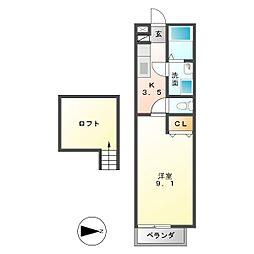 ハウスフォー(A・C)[2階]の間取り