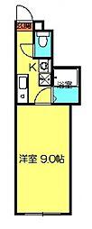 クリスタルセーディア[407号室号室]の間取り