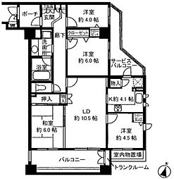 シーアイマンション池上[3階]の間取り