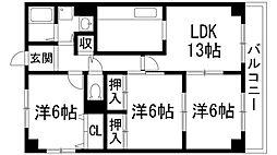 牡丹園壱番館[3階]の間取り