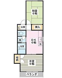 フェリカハイム[1階]の間取り