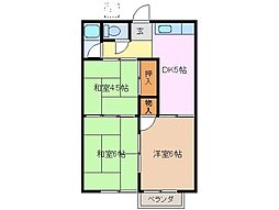 三重県桑名市新屋敷の賃貸アパートの間取り