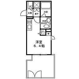 チェンテナリオ渋谷 1階1Kの間取り