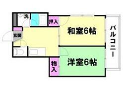 シティーハイツ本町[3階]の間取り
