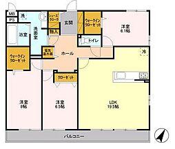 茨城県つくば市吾妻3丁目の賃貸アパートの間取り
