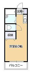 東京都東村山市恩多町1丁目の賃貸アパートの間取り