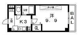 桜ヶ丘晴楽館[1406号室号室]の間取り