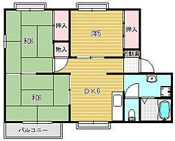 大阪府高槻市栄町1丁目の賃貸アパートの間取り