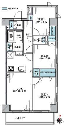 1階部分の三方...