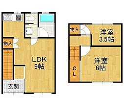 [テラスハウス] 兵庫県伊丹市森本4丁目 の賃貸【/】の間取り