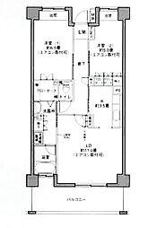 リバーサイド長島[504号室]の間取り