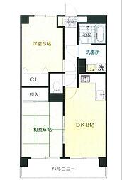 エポック新横浜[3階]の間取り