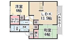 シェーンハイム B棟[2階]の間取り