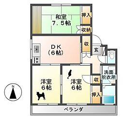 メゾン・山崎 C棟[2階]の間取り
