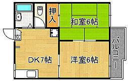 ハイツナカタI[2階]の間取り