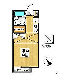 ピュア戸塚[204号室]の間取り