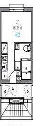 東京メトロ南北線 駒込駅 徒歩6分の賃貸マンション 3階ワンルームの間取り