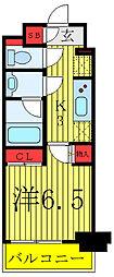 JR山手線 駒込駅 徒歩1分の賃貸マンション 2階1Kの間取り