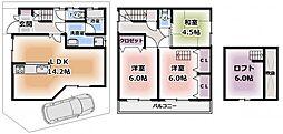 金田町一戸建て 貸家 1階3LDKの間取り
