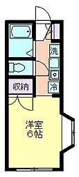 コーポ鈴木[105号室]の間取り