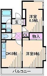 神奈川県横浜市港北区大倉山6丁目の賃貸マンションの間取り
