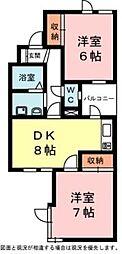 上島コモンコート[1階]の間取り