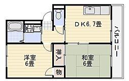 リベラル宮山台[105号室]の間取り