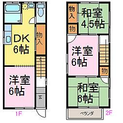 [一戸建] 愛知県知多市つつじが丘3丁目 の賃貸【愛知県 / 知多市】の間取り