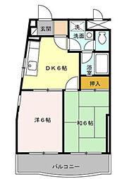神奈川県横浜市南区通町3丁目の賃貸アパートの間取り