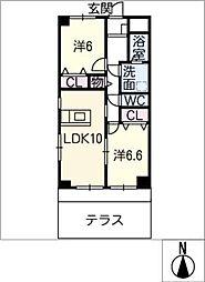 ノーブル21[1階]の間取り