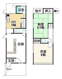 京福電気鉄道嵐山本線 帷子ノ辻駅 徒歩7分 2DKの間取り
