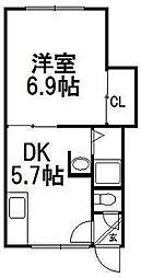 手稲ハイツ[1階]の間取り