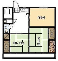 第2日庄アパート[101号室]の間取り