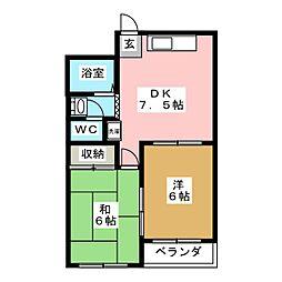 エトワール中村[2階]の間取り