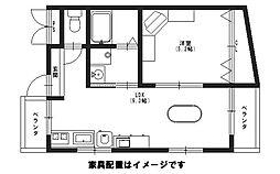 レスポワールユキオ[2階]の間取り