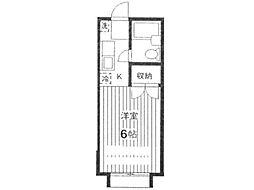 ホワイトコーポ[1階]の間取り