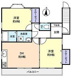 井野貸家2階[2階]の間取り