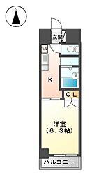 サンピアオカヤス[2階]の間取り