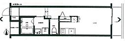 JR津山線 法界院駅 徒歩11分の賃貸アパート 1階ワンルームの間取り