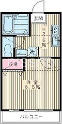 1416−ソロル若宮[102号室]の間取り