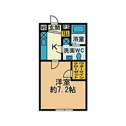 厚木台ファミールI[1階]の間取り