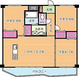 KSK中須コアプレイス[9階]の間取り