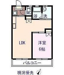 コーポ松浦[206号室]の間取り