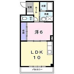 ドミールYASIRO・II[3階]の間取り